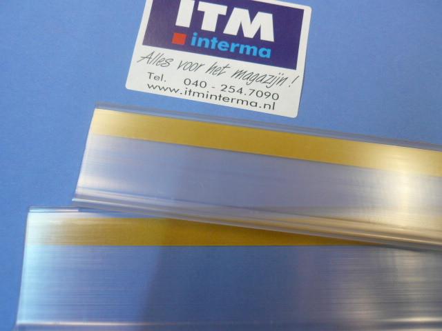 Etikethouders transparant met zelfklevende achterkant bestellen
