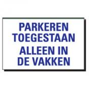 TSD 05 PARKEREN TOEGESTAAN ALLEEN IN DE VAKKE
