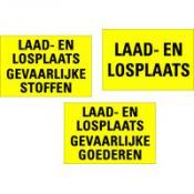 Voorbeeld 7 LAAD-EN LOSPLAATS geel-zwart