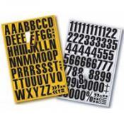 Magnetische letters geel en zwart