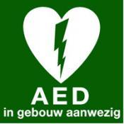 AED aanwezig sticker