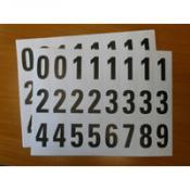 Cijfer en lettersets zelfklevend papier 34x64mm.