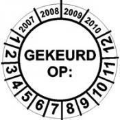 Keuringssticker 11 D GEKEURD OP:
