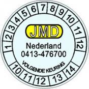 Keuringssticker 3 A + tekst en logo