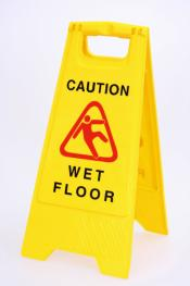 Natte vloer bord Engelstalig CAUTION WET FLOOR