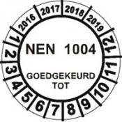 Keuringssticker 13F NEN1004