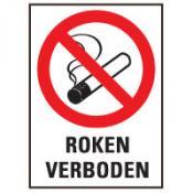 Roken verboden tekst bord