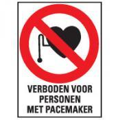 Pacemaker verboden tekst bord