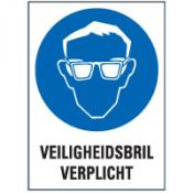 Veiligheidsbril + tekst bord