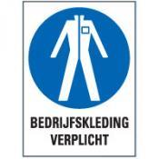 Beschermende kleding tekst sticker
