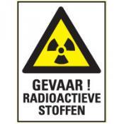 Radioactief + tekst bord
