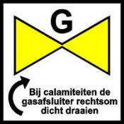 Gasafsluiter rechts
