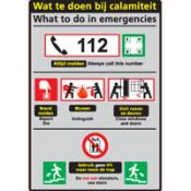 Calamiteit Ned-Eng sticker