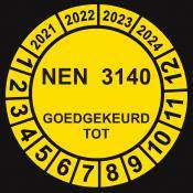 NEN 3140 geel