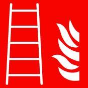 ISO Brandladder sticker